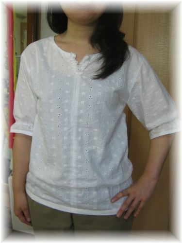 Frilled_cuffs_simple_blouse