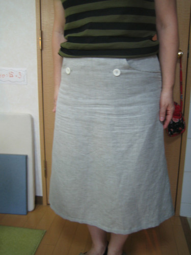 double_button&pocket_skirt