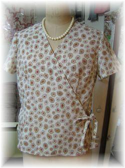 Cache couer blouse