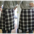 checked rap_skirt