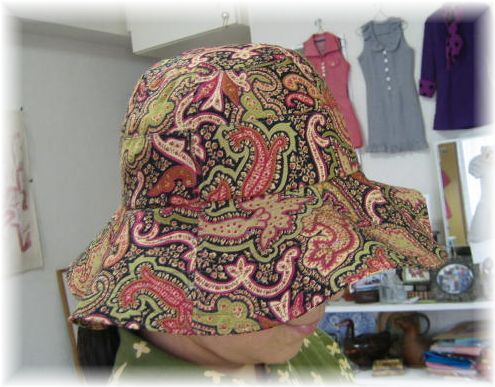 hat with wide brim