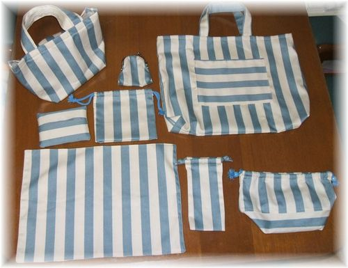 stripes set for shool girl
