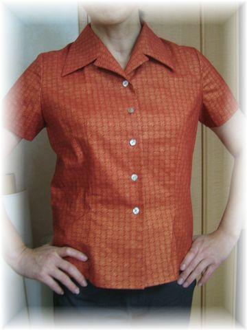 open collar blouse