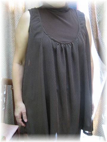 tunic dress with chiffon
