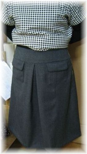 skirt by wool fabric