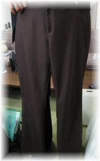 pants with front zipper