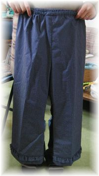 frilled pants